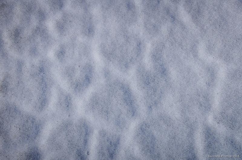 Textura de la brisa sobre la nieve
