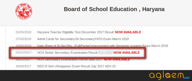 HOS Result March Exam