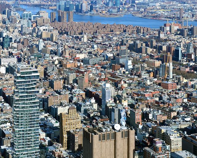 Vistas de Nueva York desde el rascacielos One World