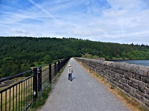 Crossing Ladybower dam