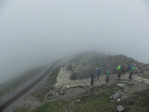 Final ascent to Snowdon