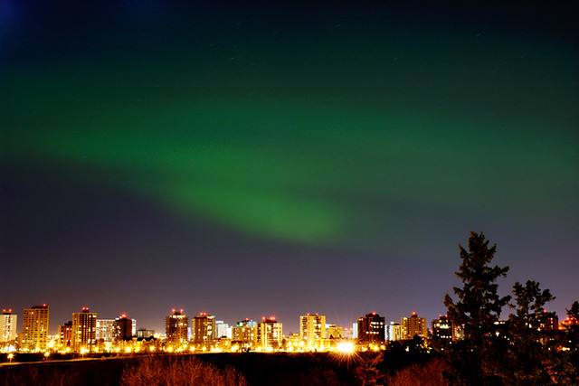Northern Lights Skyline Northern Lights Over The