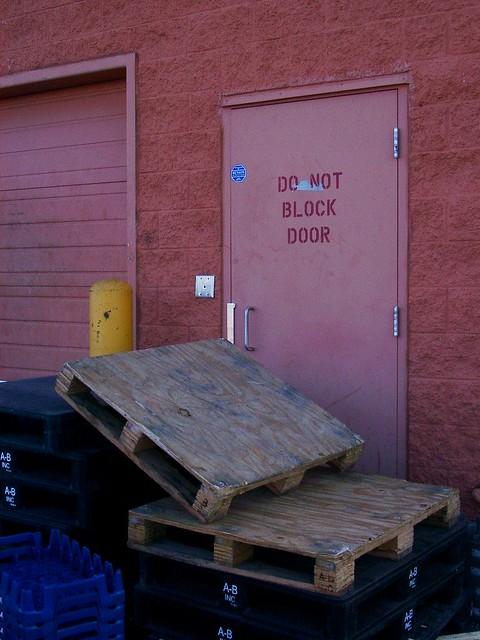 Do Not Block Door : Do not block door good thing this isn t the only one