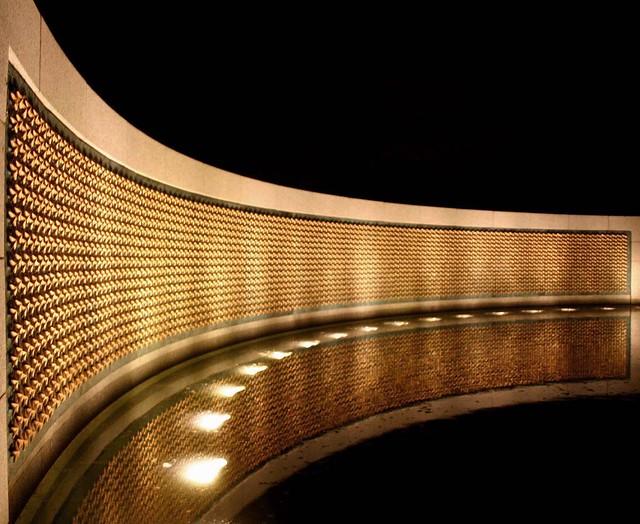World War 2 Memorial Gold Star Wall At The World War 2