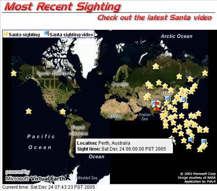 Santa Claus Sightings Map This Santa Sighting Map Was