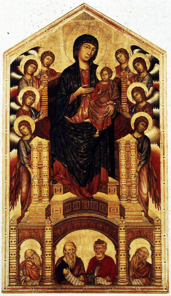 CIMABUE Madonna Enthroned with Angels and Prophets   Flickr