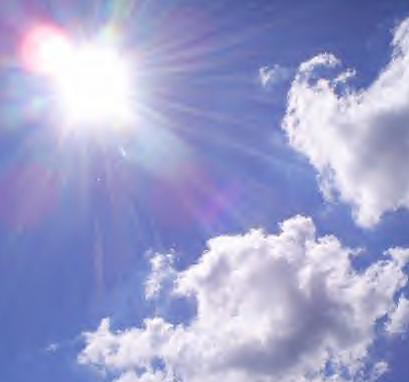 Pictures of sun glare, sunbows, clouds, or ...