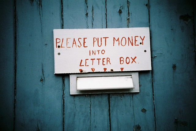 Please put money into letter box   Flickr - Photo Sharing!