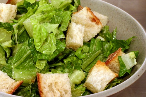 caesar salad with garlic-rubbed croutons | by smitten kitchen