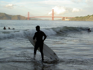 Surfers outside the Gate at China Beach | by 2composers