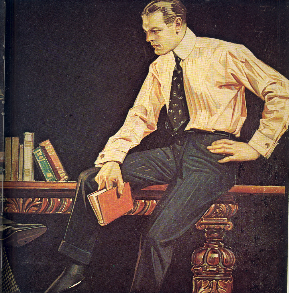 J C Leyendecker Arrow Collars Ad Reading Part 2 Flickr