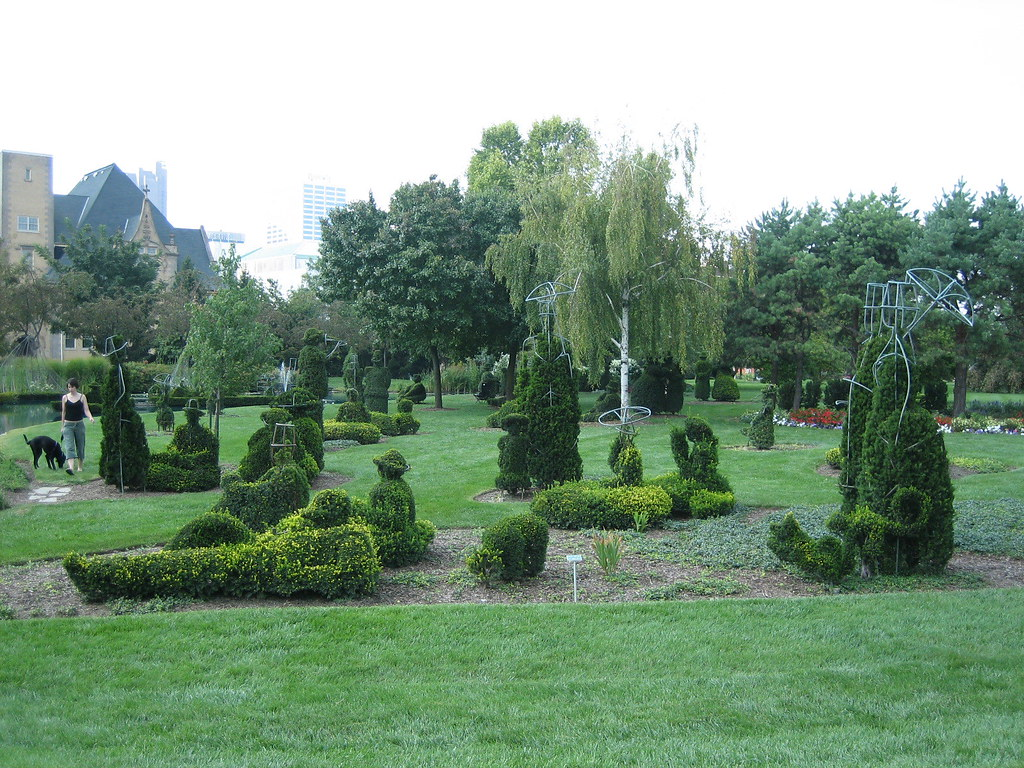 Topiary Park Columbus Ohio A Landscape Of A Painting