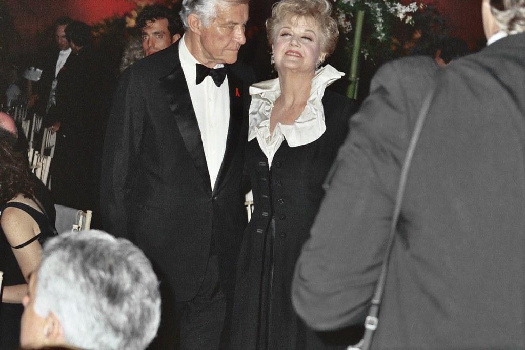 Angela Lansbury With Husband Peter Shaw Angela Lansbury