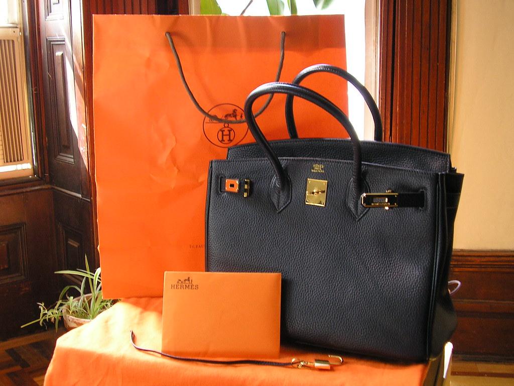 For Sale Black Hermes Birkin 35 W Gold Hardware
