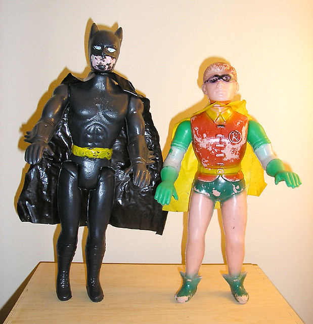 Coolest Batman Toys : Batman and robin two mexican bootleg toys won these