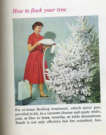 1960 Christmas How To Flock Your Tree Better Homes And