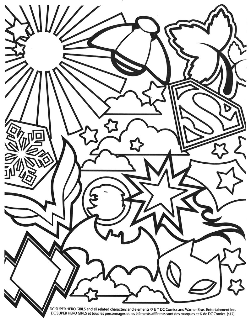 Dc Superhero Girls Colouring Pages Selections From The Dcs Flickr