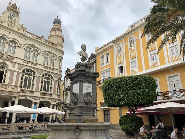 Plaza Cairasco del barrio de Triana en Las Palmas de Gran Canaria