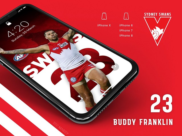 Buddy Franklin (Sydney Swans) iPhone Wallpaper