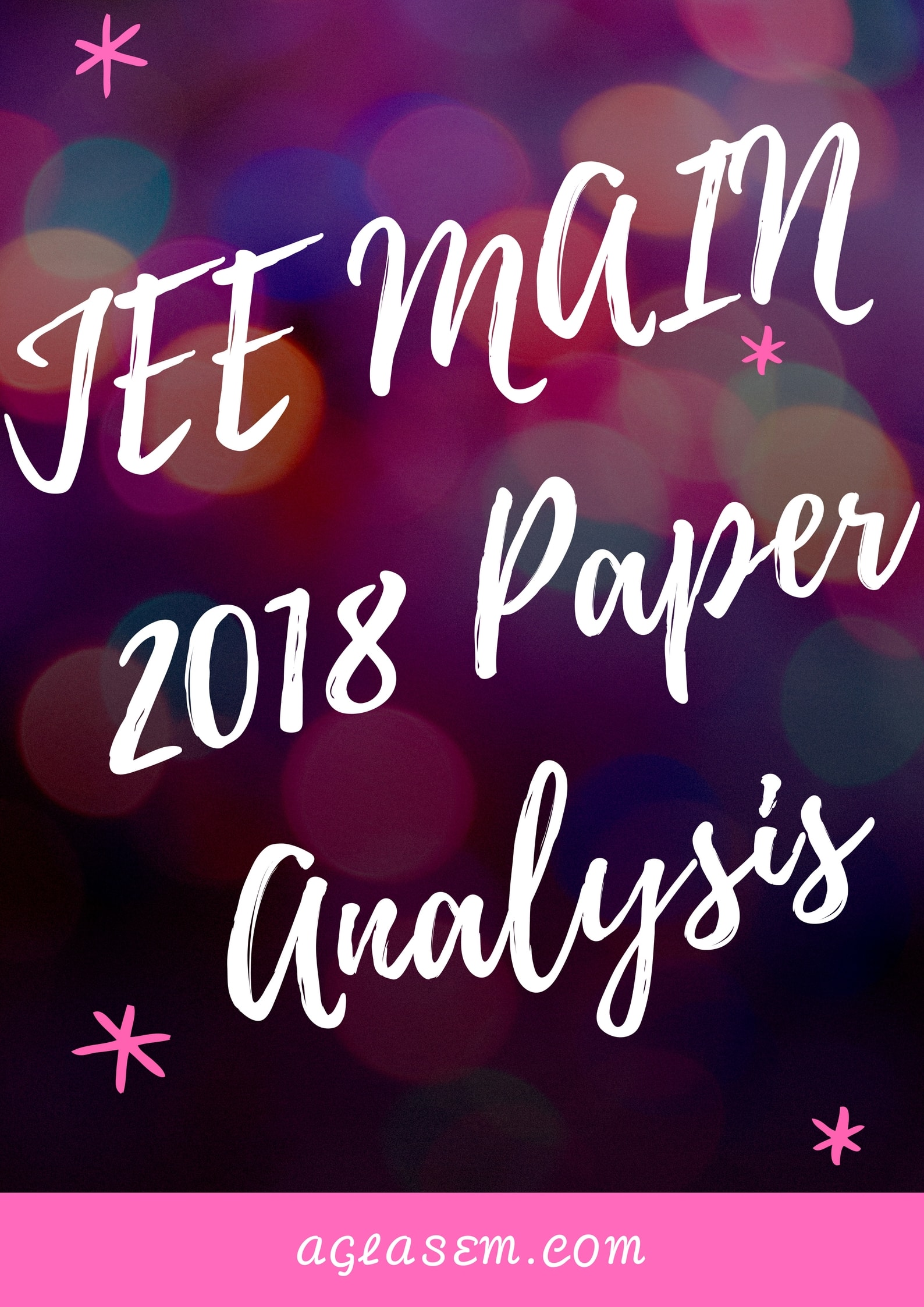 JEE Main 2018 Paper Analysis