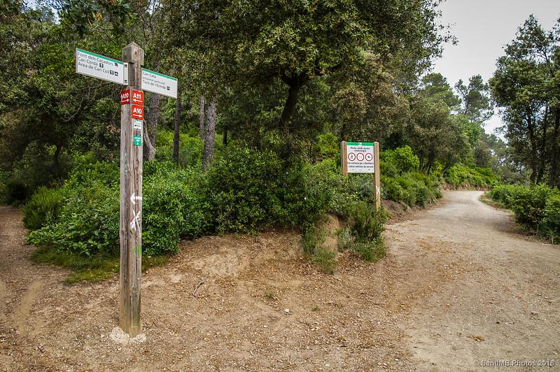 Cruce con el camino de la Font dels Caçadors