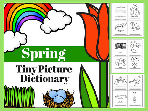 Spring Tiny Picture Dictionary | by CHSH-Teach