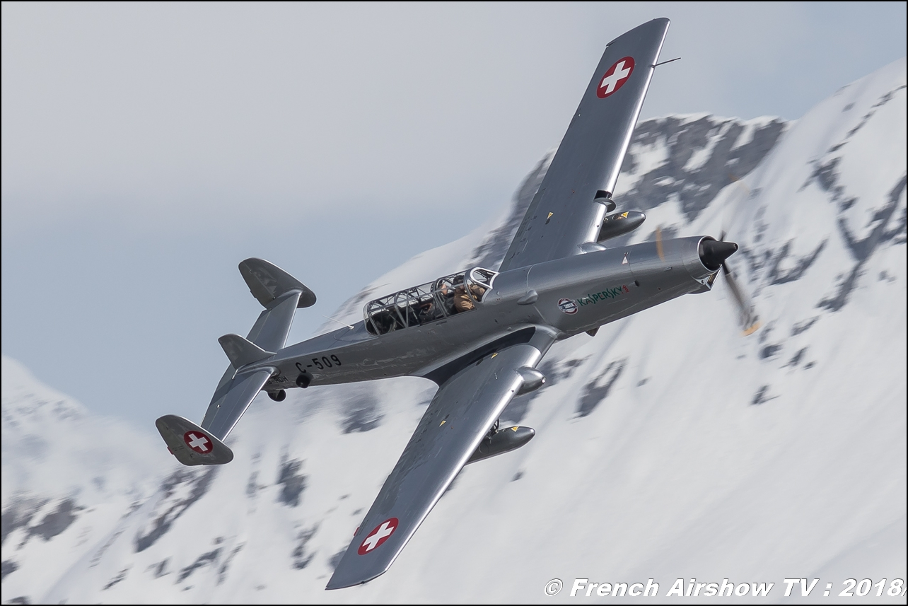 F+W Emmen C-3605 - HB-RDH , 46 Aviation SA , Kaspersky , Fly Courchevel 2018 - Altiport Courchevel , Meeting Aerien 2018