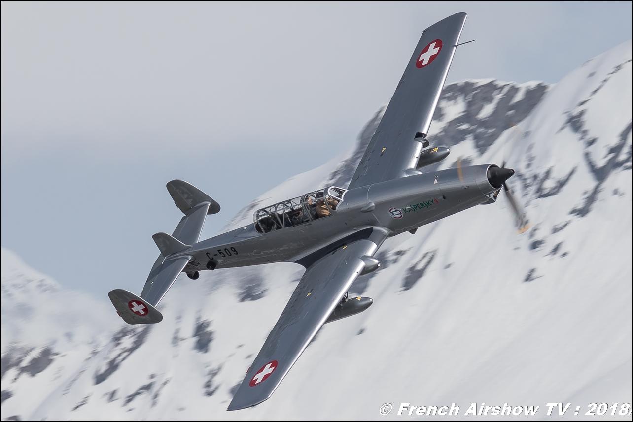 F+W Emmen C-3605 - HB-RDH , 46 Aviation SA , Kaspersky , Fly Courchevel 2018 - Altiport Courchevel , Meeting Aerien 2018