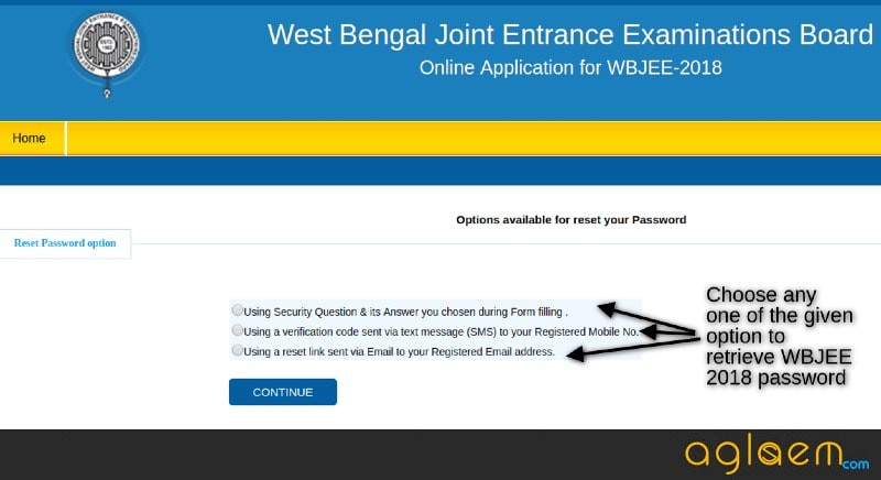 WBJEE Password