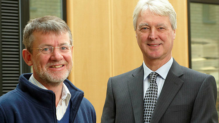 Professors Roger Eatwell (right) and James Copestake worked together with colleagues from RDSO to secure the bid
