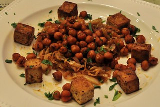 Tofu Ras el hanout, Braised Cabbage and Fried Chickpeas | by tofu666