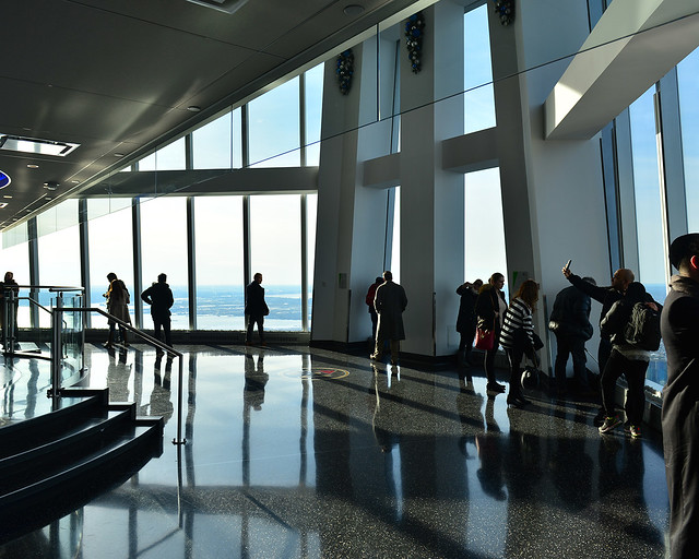 Interior del mirador del One World Observatory