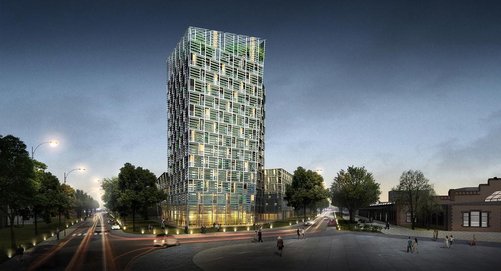 智能綠塔(Smart Green Tower)完成後示意圖。圖片提供:Frey Group