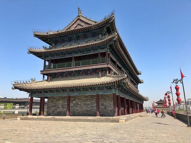 Tramo de la muralla medieval de Xi'an (China)