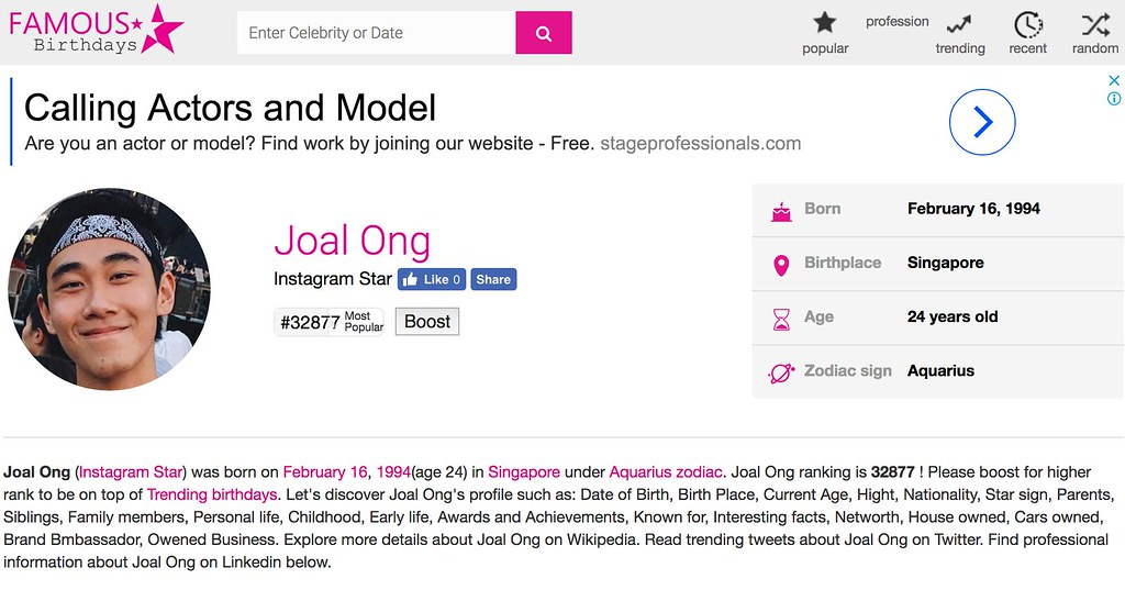Who is Joal Ong? - Alvinology
