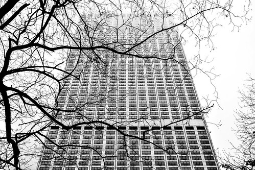 Scrape the Chicago Sky 7 B&W | by C.M. Keiner