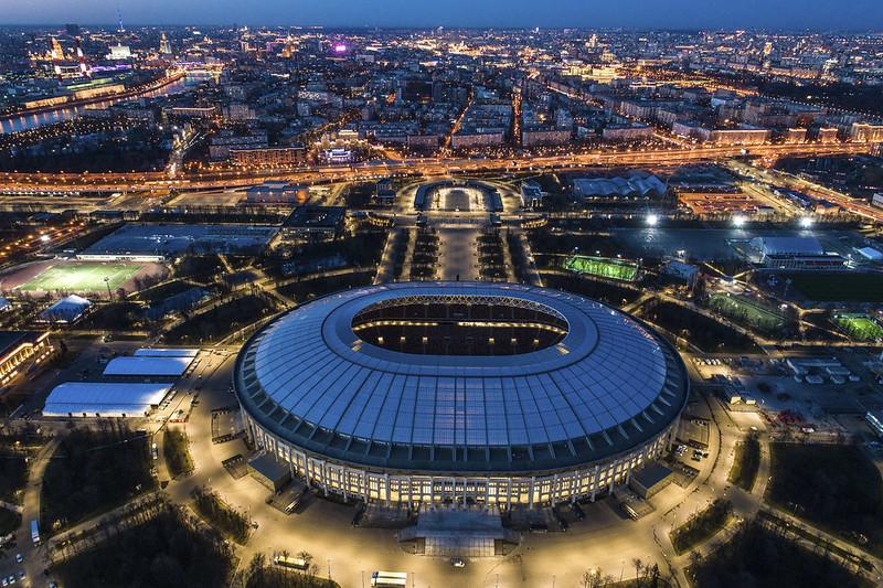 2018年世足冠軍戰預計舉行地點:盧日尼基體育場。(達志影像資料照)