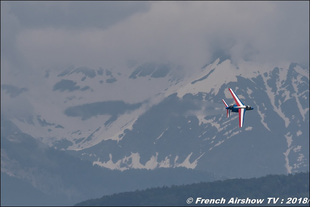 Patrouille de France , patrouille acrobatique officielle de l'Armée de l'air française , Alpha Jet , Meeting Aérien Gap-Tallard 12 mai 2018 - Alpes-Envol , Association AGATHA , Canon EOS , Sigma France , contemporary lens , Meeting Aerien 2018