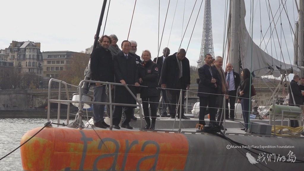 955-1-962015年TARA航行到巴黎塞納河畔,參與聯合國氣候變化綱要公約締約方第21次大會。
