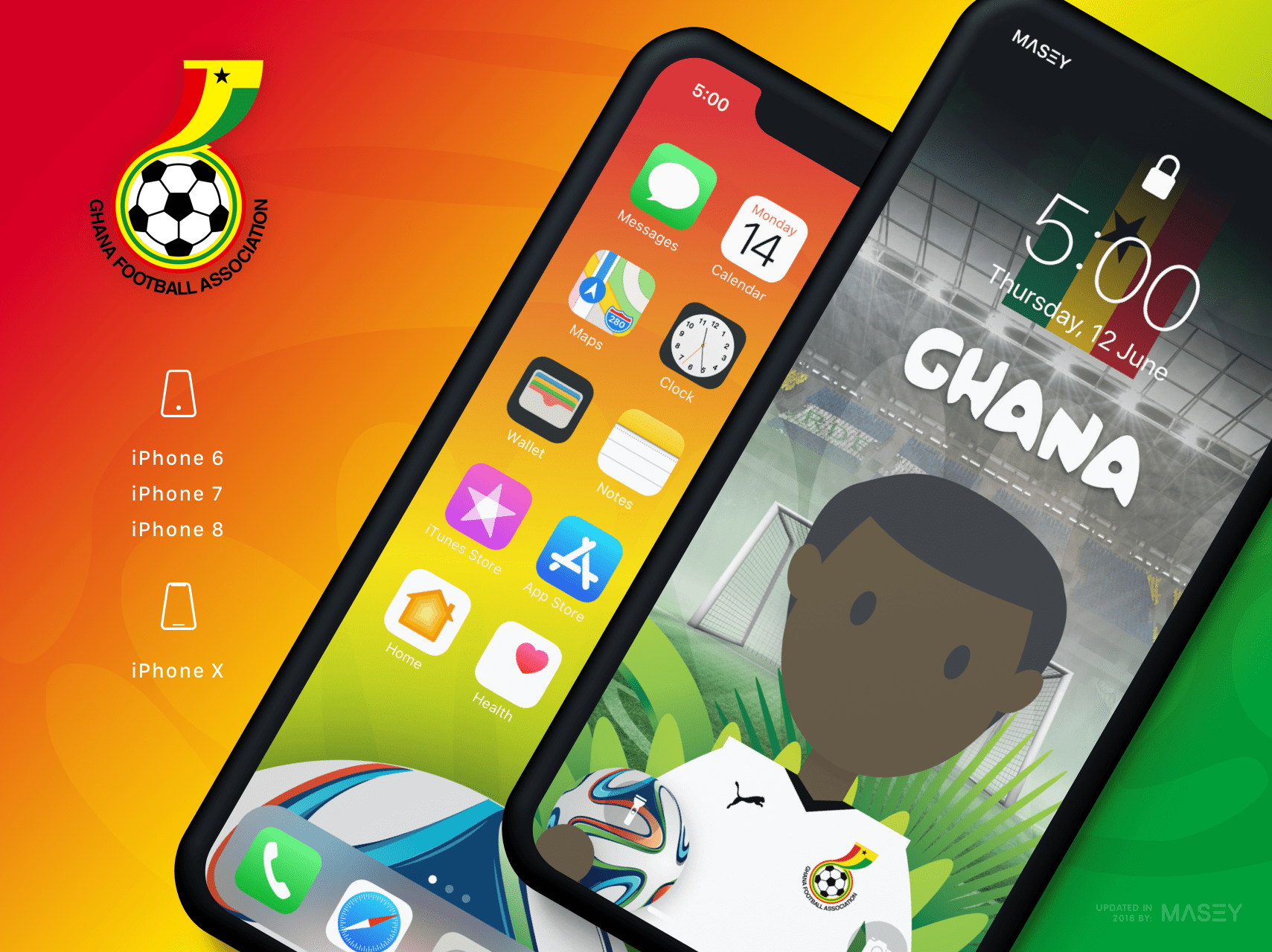 Team Ghana iPhone Wallpaper