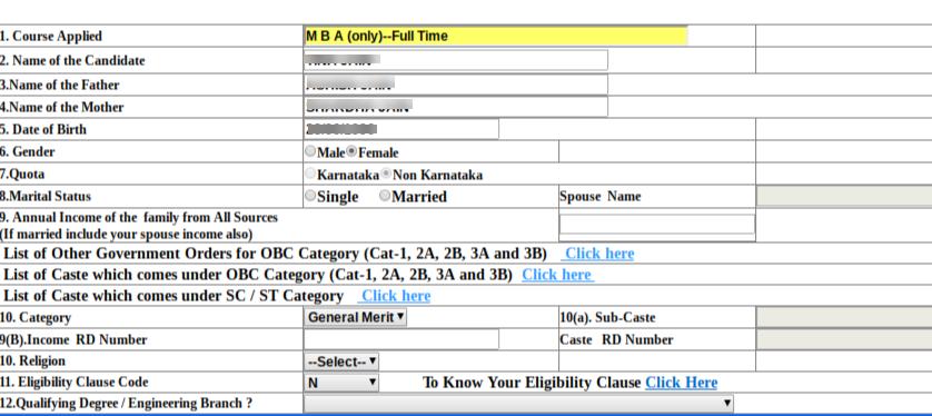 Karnataka PGCET 2020 Application Form