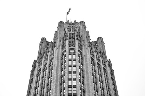 Scrape the Chicago Sky 6 B&W | by C.M. Keiner