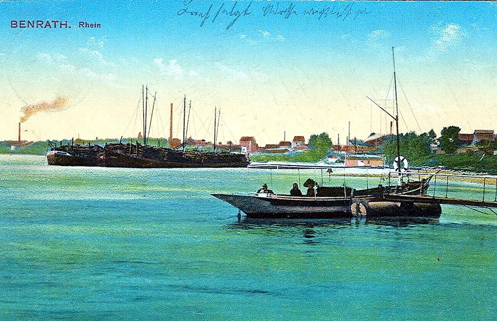 Рейн у Бенрата в 1913 году.