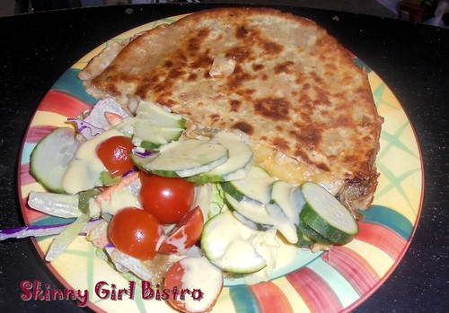 Photo: Half-quesadilla with salad