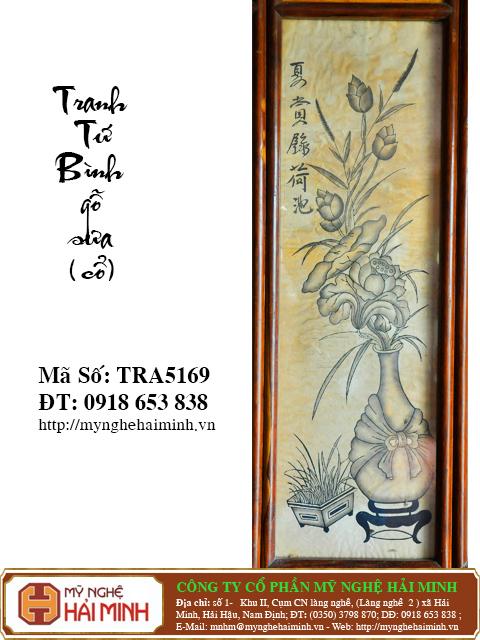 TRA5169g Tranh Tu Binh go Sua Co do go mynghehaiminh