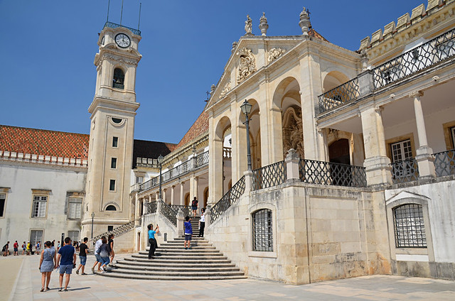 Different view of Royal Palace and University Tower, Coimbra