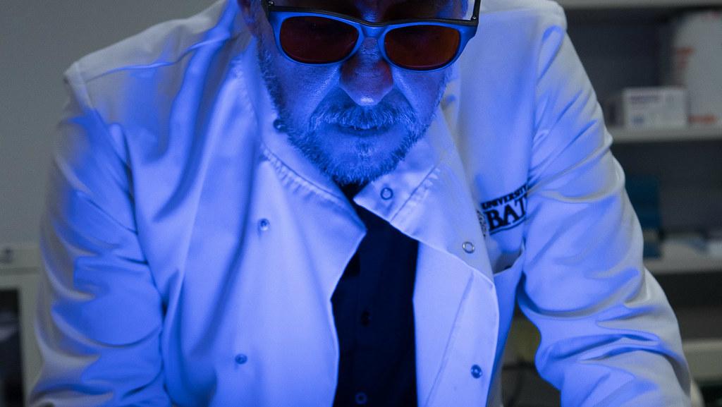 Prof Jean van den Elsen in the lab