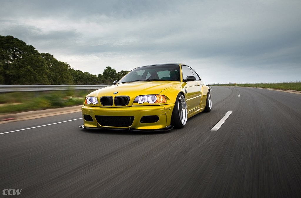 Phoenix Yellow Pandem Widebody E46 M3 Ccw Classic 3 Piec Flickr