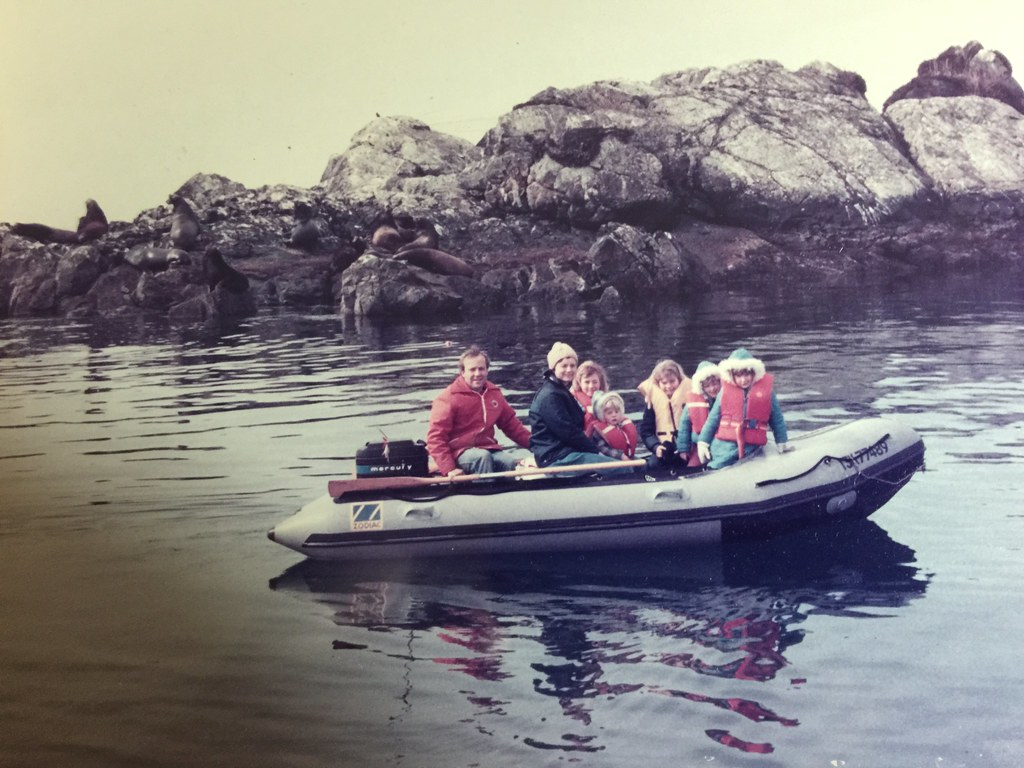 Boating near Bamfield, BC