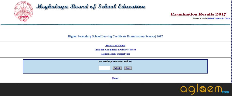 MBOSE HSSLC Result 2018